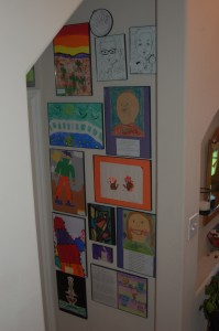 WFMW: Decorating with Kid's Art (Update)