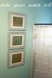 Make Your Own Art {mini Bathroom Redo}