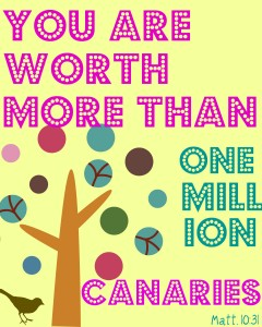 You're Worth More {Free Printable}
