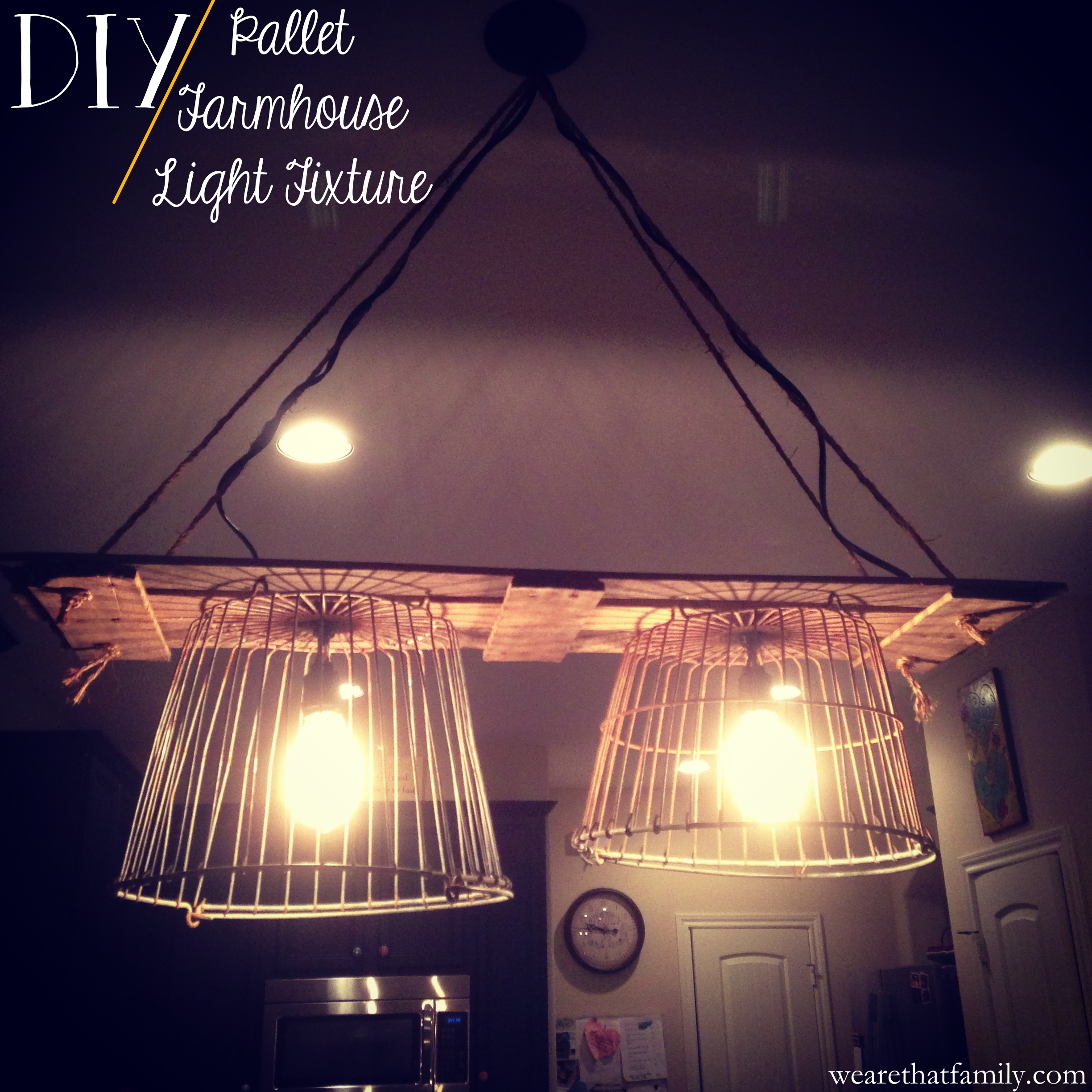 pallet farmhouse light fixture Kristen Welch