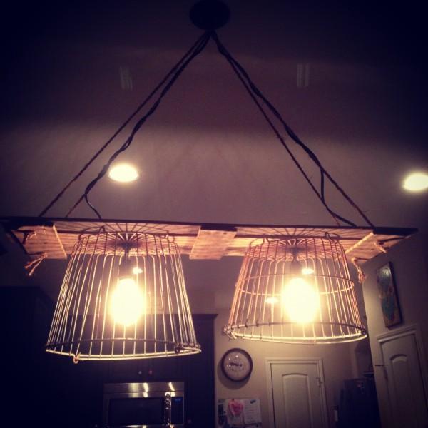 Diy Pallet Farmhouse Light Fixture Kristen Welch