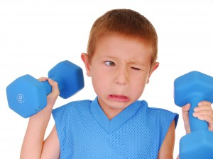 boy dumbbell funny