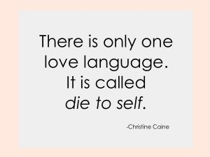 there is only one love language