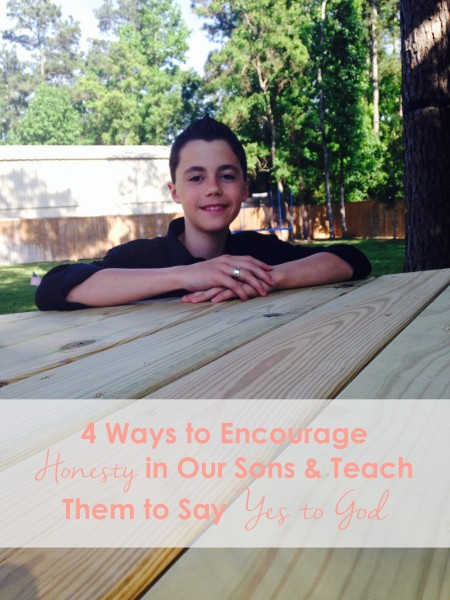 Teaching our sons to say yes to God