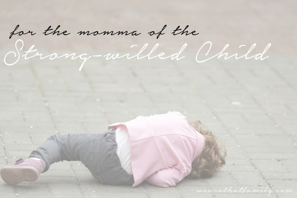for the momma of the strong willed child