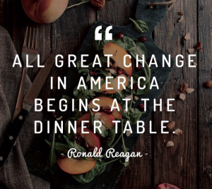 5 Ways To Change America From The Dinner Table