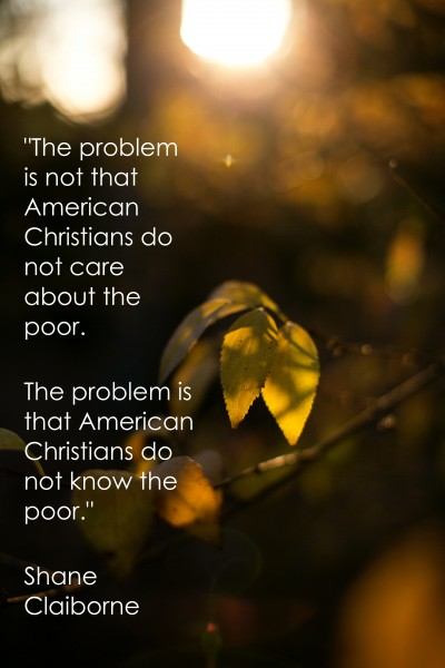 american christians do not know the poor
